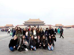 Beijing students enjoying their free time