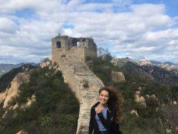Tereza exploring the Wild Wall