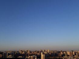 The view from the 30th floor roof terrace at LTL Beijing