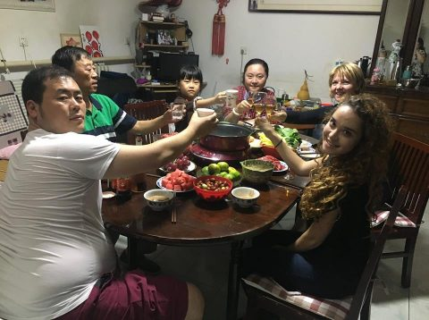 Dinner Time with our Chinese Homestay Family