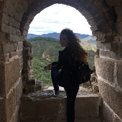 Tereza on the Great Wall of China