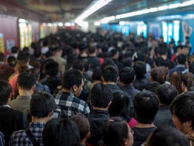Rush Hour Beijing Metro