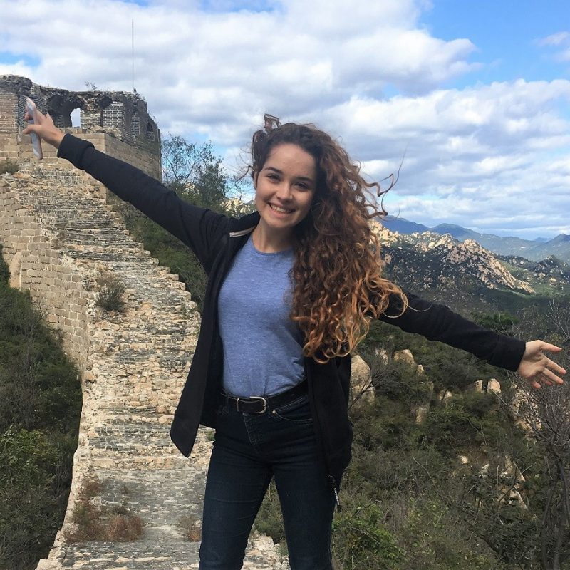 LTL Student Tereza from Liberec, Czech Republic, exploring the Great Wall