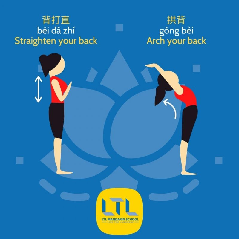 Yoga Poses in Chinese