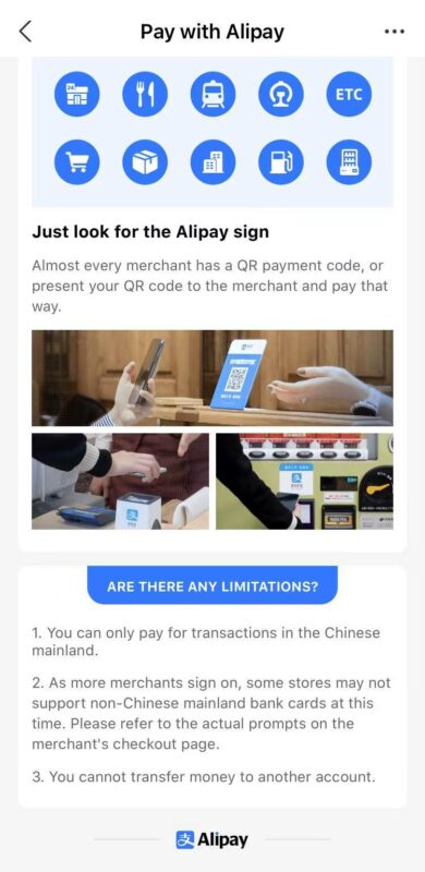 Alipay for Foreigners