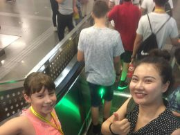 Travelling the Metro on the way to LTL Summer Camp activities