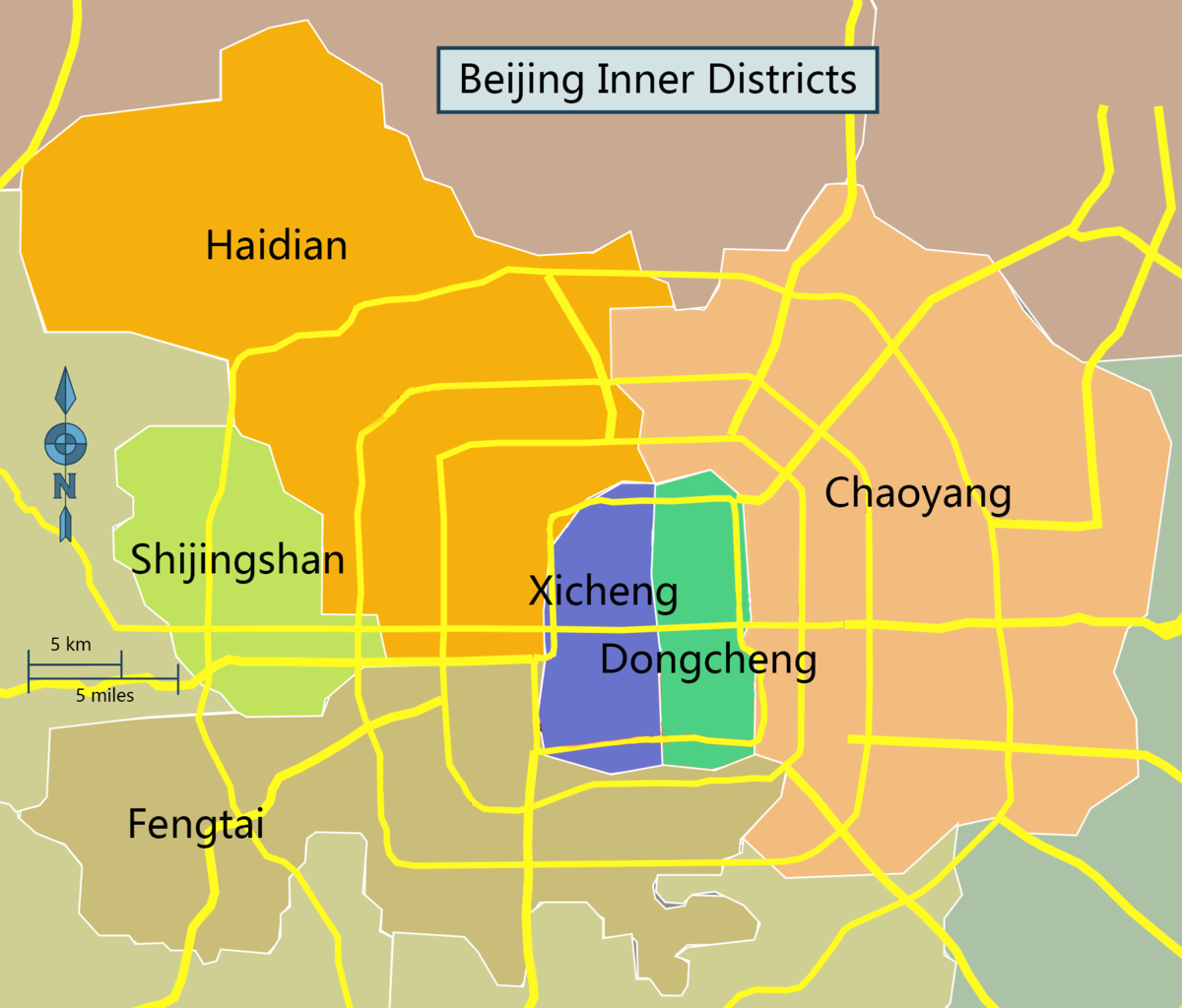Beijing Map - The Districts and where to live