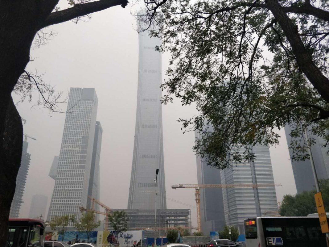 Beijing Pollution: Beijing's CBD in mid October 2018