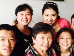 Laodice with her homestay family