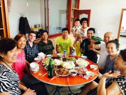 Dinner at Chinese Homestay