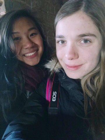 Jocelyn and Katrin in Beijing