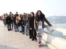 Italian school students enjoying China