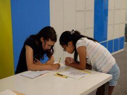 Students Practising Mandarin Characters