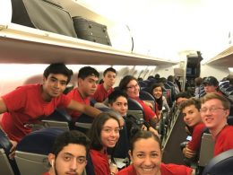 Team Mexico on their way to LTL Summer Camp 2018
