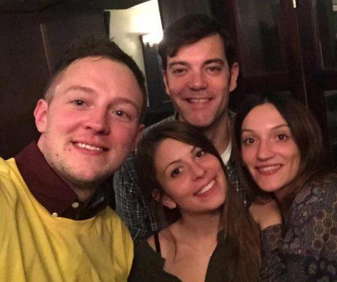 Michela selfie with three friends