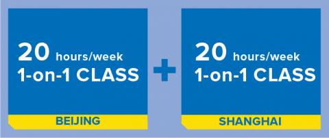 20h/semana de aula individual em Pequim + 20h/semana de aula individual em Xangai