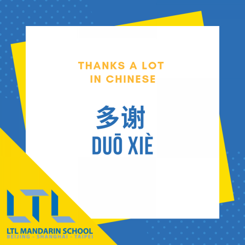 Thanks a lot in Chinese
