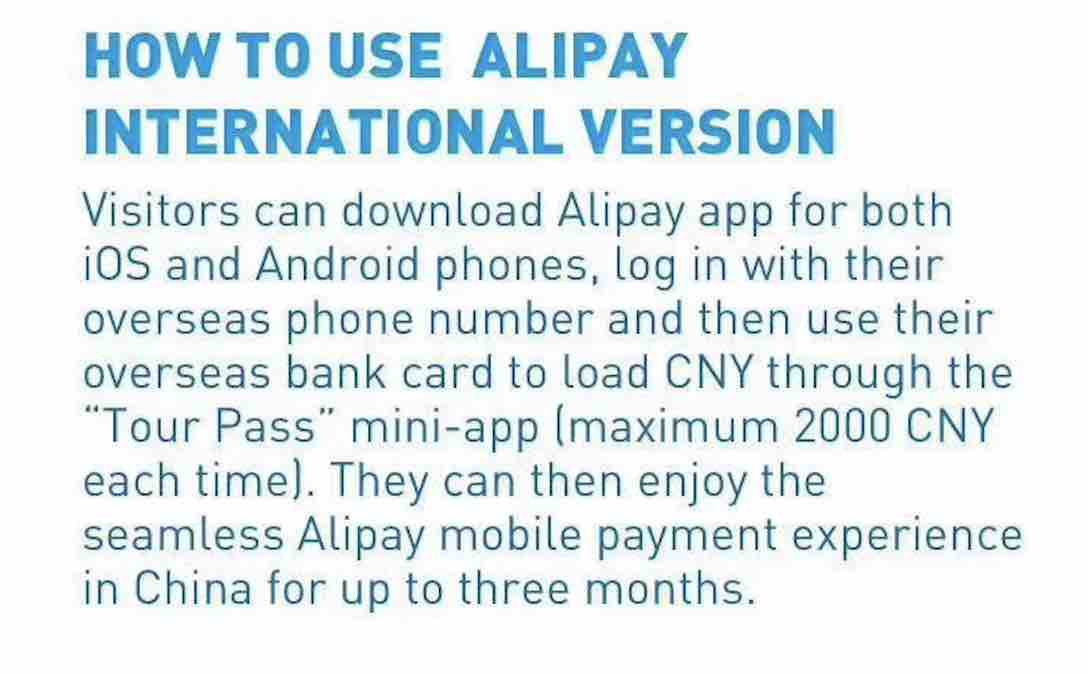How to use AliPay in China as a foreigner
